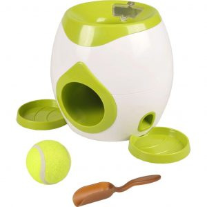 FLAMINGO Interaktives Fetch & Treat Hundespielzeug Wilson 517922 Grün 5400585065763