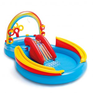 Intex Aufblasbarer Pool Rainbow Ring Play Center 297x193x135cm 57453NP Mehrfarbig 8718475699330