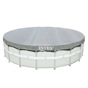 Intex Poolplane Deluxe Rund 549 cm 28041 Grau 8718475699262