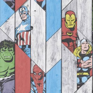 Kids at Home Tapete Marvel Wood Grau 102435 Grau 5011583332612