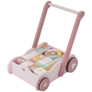 Little Dutch Holzklotz-Laufwagen Rosa LD4414 Rosa 8713291444140