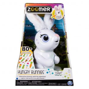"Spin Master Zoomer Roboter-Kaninchen ""Hungry Bunnies Chewy"" White Weiß 0778988552544"