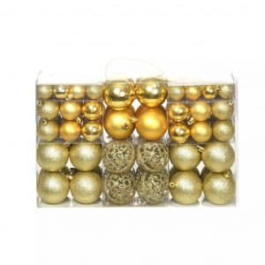 vidaXL 100-tlg. Weihnachtskugel-Set 6 cm Golden Gold 8718475586067