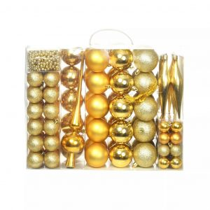vidaXL 113-tlg. Weihnachtskugel-Set 6 cm Golden Gold 8718475586074
