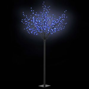 vidaXL LED-Lichterbaum Weihnachten Indoor Outdoor IP44 250 cm Blau Blau 8718475594789