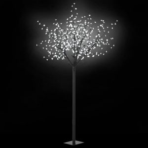 vidaXL LED-Lichterbaum Weihnachten Indoor Outdoor IP44 250 cm Weiß Weiß 8718475594765