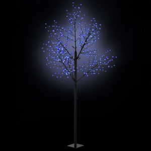 vidaXL LED-Lichterbaum Weihnachten Indoor Outdoor IP44 300 cm Blau Blau 8718475594758