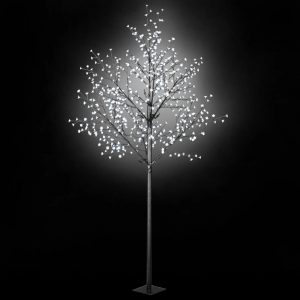 vidaXL LED-Lichterbaum Weihnachten Indoor Outdoor IP44 300 cm Weiß Weiß 8718475594734
