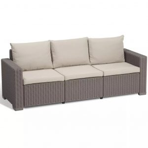 Allibert 7-tlg. Gartensofa-Set California Cappuccino 231564 Braun 8711245143583