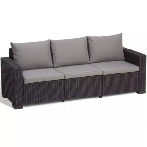 Allibert 7-tlg. Gartensofa-Set California Graphitgrau 231565 Grau 8711245143590