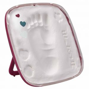Baby Art Hello Baby Fußabdruck-Set Burgundy Rot 3601092600 Rot 3220660289264