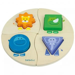 Beleduc Funny Four Puzzle 18004 Mehrfarbig 4014888180040
