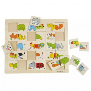 Beleduc Match & Mix Puzzle Tiere 11006 Mehrfarbig 4014888110061