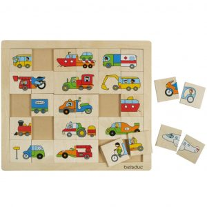 Beleduc Match & Mix Puzzle Transport 11007 Mehrfarbig 4014888110078
