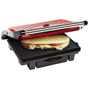 Bestron Panini Grill 1000 W Hot Red ASW113R Rot 8712184036066