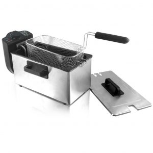 Emerio Fritteuse 2000 W 3 L DF-110927 Silber 7350034657033