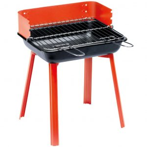 Grillchef Camping-Grill PortaGo 33x26 cm Rot 11526 Rot 4000810115266
