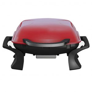 Qlima Tragbarer Holzkohle-Grill 37x53 cm Rot PC 1015 Rot 8713508775487