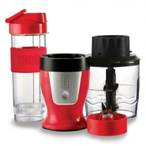 Trebs 2-in-1 Smoothie Maker und Chopper 600 ml Rot 99336 Mehrfarbig 8718836262890
