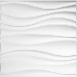 WallArt 3D-Wandpaneele Waves 12 Stk. GA-WA04 Weiß 8717953042934